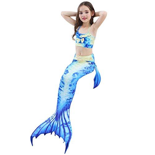Déguisement 4pcs Maillot Bikini Das Cosplay Natation Avec La De 2018nouveau Queues Bain Tail Filles Shark A04 Beste Sirène Pour Ensembles Costume Mermaid Monopalme Style Monofin PPxwqEvzrg