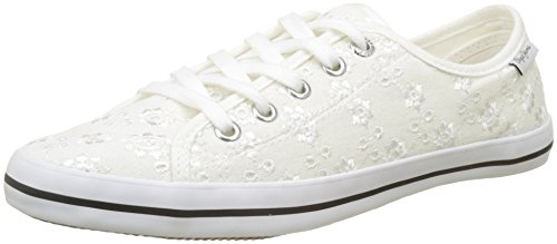 Blanco white Mujer Jeans Anglaise Zapatillas Gery Pepe Para F7WRC