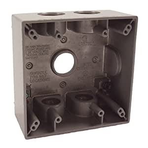 Hubbell Raco 5345-0 Two Gang 5-3/4-Inch Outlets Weatherproof Box