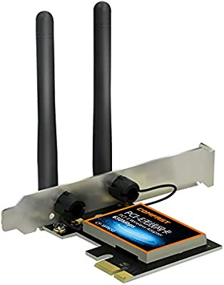 Amazon.com: DGXIAKE Wireless WiFi Adapter PCI E 650Mbps ...