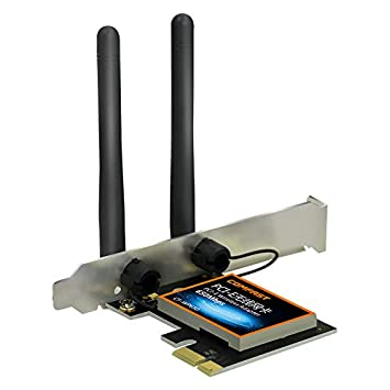 FUX Tarjeta WiFi Ordenador de sobremesa, PCI-E, 650 Mbps, 802.11ac ...