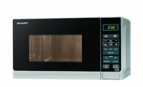Sharp R272SLM Microwave with 1 Year Warranty, 20 Litre, 800 Watt, Silver