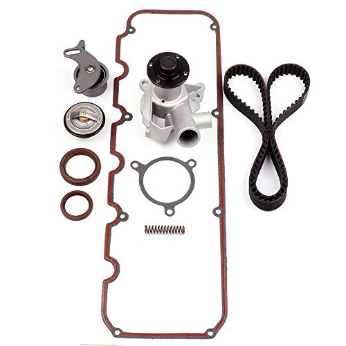 SCITOO for 1982-1988 BMW E30 325is 2.5L 2.7L,Replaceable Timing Belt kit Including Timing Belt Water Pump with Gasket tensioner Bearing etc