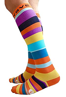 Compression Socks Women & Men 20-30mmhg by Wave- Perfect for Nurses Pregnant Women Flying Travel