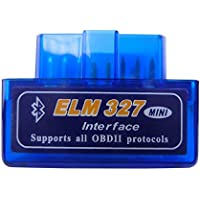 LZLRUN OBD Super Mini BT ELM327 V2.1 Bluetooth OBD2 Scanner Tool Car Scan Auto Adapter Check Engine Diagnostic Tool for Android Torque/PC