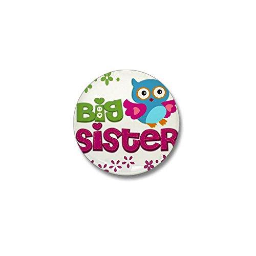 CafePress - Cute Owl Big Sister Mini Button - 1