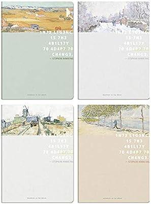 Estuche de plástico Cuaderno A5 / B5 Papelería Espesar Manga de goma Cuaderno Diario Copia simple y portátil Cuaderno de examen Libro de espesamiento Libro individual 96 148X210MM: Amazon.es: Oficina y papelería