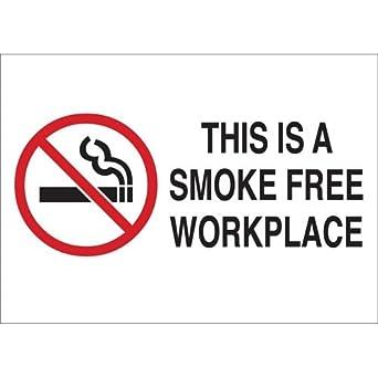 Amazon.com: Brady 72399, cartel de no fumar, 20 unidades ...