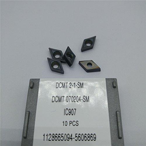 50Pcs DCMT070204-SM IC907 DCMT2-1-SM CNC Carbide Inserts
