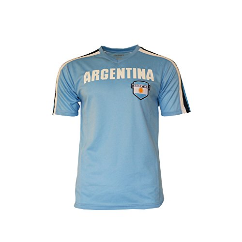 Argentina Soccer Jersey Flag Pride World Cup Adult Training Custom Name and Number (Custom Name ADDS, L)