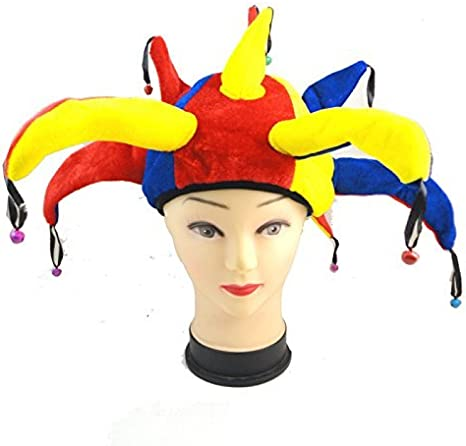 Gorro de bufón Medieval Payaso Jester Cap with Bells - Disfraz de ...