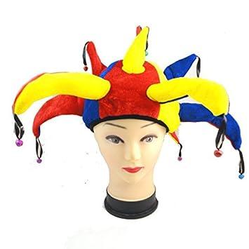 Gorro de bufón Medieval Payaso Jester Cap with Bells - Disfraz de Adulto  Carnaval y Halloween - Talla única Mujeres Hombres  Amazon.es  Productos  para ... a9ac3a3c338
