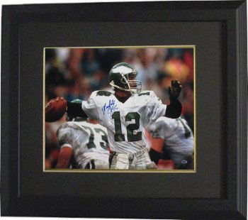 37d1eefbb Randall Cunningham Signed Autograph Philadelphia Eagles 16x20 Photo Deluxe  Custom Framed  12 white jersey-