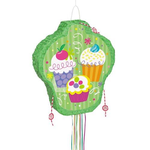 Cupcake Party Pinata, Pull String - Cupcake Pull String Pinata