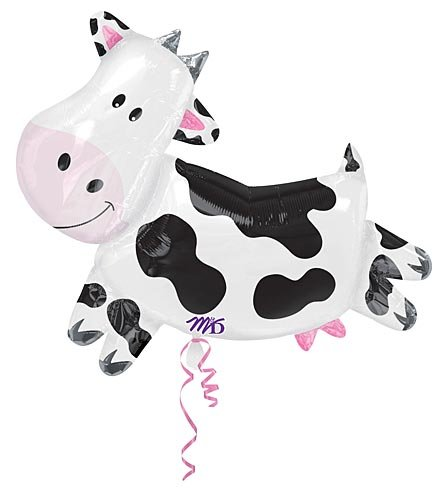 Foil Balloons Wholesale - Anagram Cow Shape Mylar Foil Balloon, 30