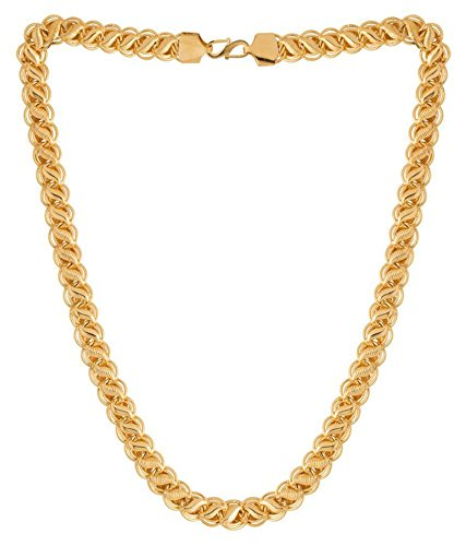 04625b7f595 Onnet 1 Gram Gold Plated Designer Chain 1 CM Thick For Men (CN010):  Amazon.in: Jewellery