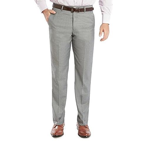 Sebastian Taheri Uomo Mens Slim Fit Dress Pants/Slacks Silver-Grey W36_L32 - Uomo Mens Fashion