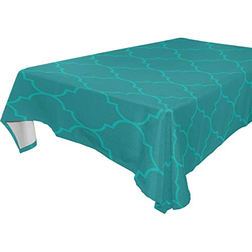 - Dragon Sword Moroccan Aqua Olive Color Washable Polyester Tablecloth Table Cover for Kitchen Dining Room Parties Wedding, 54
