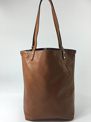 Innue, Borsa a spalla donna marrone Brown Cognac