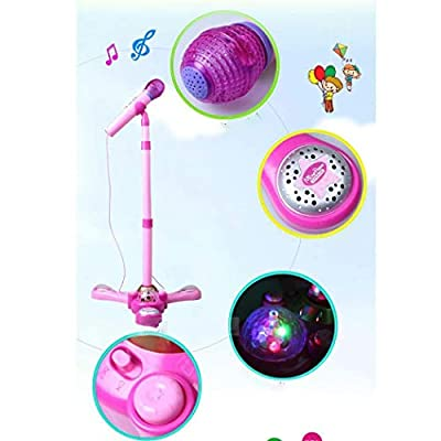 weepo Kids Stand Type Music Microphone Toy with Colorful Light Children Education Musical Toy Gift: Home & Kitchen