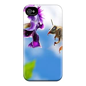 Fashionable WvlDY2332etOrq Iphone 4/4s Case Cover For Bee In The Morning After Dark Protective Case