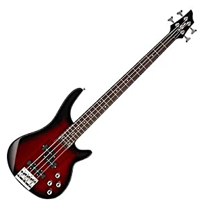 Chicago-Bassgitarre von Gear4music Trans Red Burst