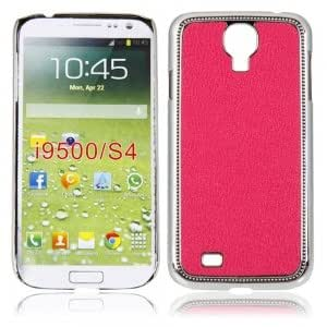 Electroplating Protective Case with Lichee Pattern for Samsung i9500 Rose Red