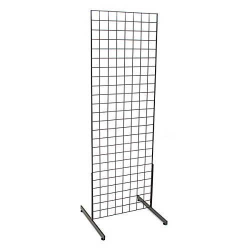 Freestanding Leg (Only Garment Racks #1900B(1) + #1918B(1PR.) Grid Unit, 2' x 6' with Legs, Black)