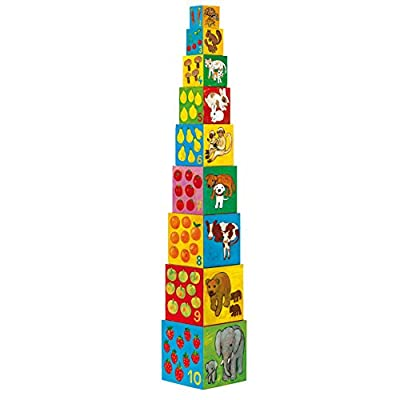 Djeco / My Friends Nesting & Stacking Cubes: Toys & Games