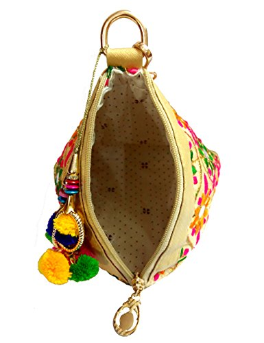 Handbag Indian amp; Pouch Clutch Potli Party Jewelry Women Evening Bridal Purse Multi Designer Wedding Red PFwSF4