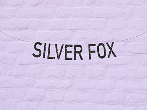 Avery Carey Birthday Banner Silver Fox Glitter Sign Happy Birthday Party Decor Funny Sign Aged To Perfection Over the Hill Gold Sparkly - Avery Banner Sign