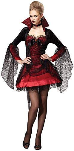Ladies Sultry Vampire Mistress Sexy Scary Halloween Horror Fancy Dress Costume Outfit UK 10-14
