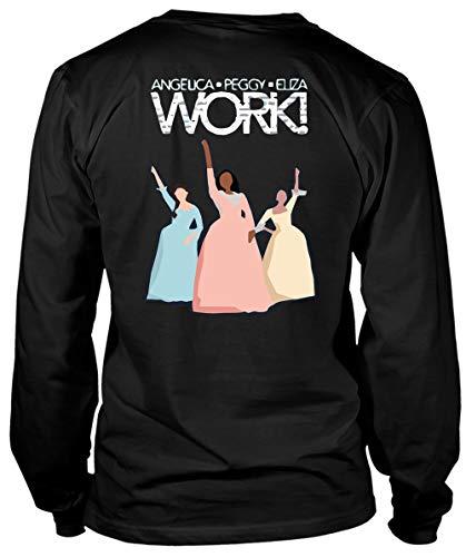 Hamilton Star (Angelica Peggy Eliza Work T Shirt, Hamilton The Musical T Shirt, Hamilton Stars T Shirt - Long Sleeve Tees (S, Black))
