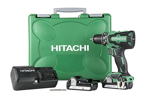 Hitachi DS18DBFL2 18V Cordless Lithium Ion Brushless Driver Drill (Includes Two 1.5Ah...