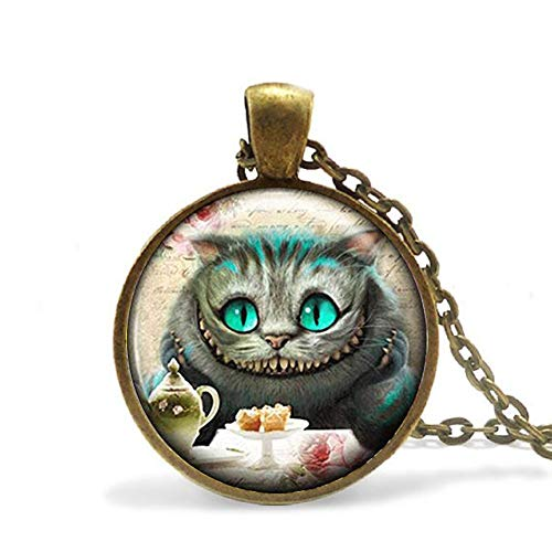Vintage Wonderland Pendant Necklace - Cheshire Cat Jewellery (Jewelry Cat Cheshire)