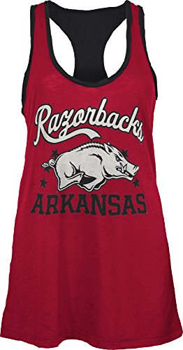 Three Square by Royce Apparel NCAA Arkansas Razorbacks Nelly Tank, Large, Crimson