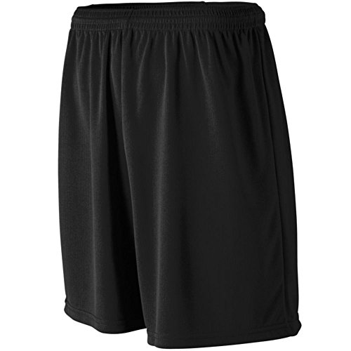 Augusta Athletic Youth Wicking Mesh Athletic Short, Black, Large by Augusta Athletic