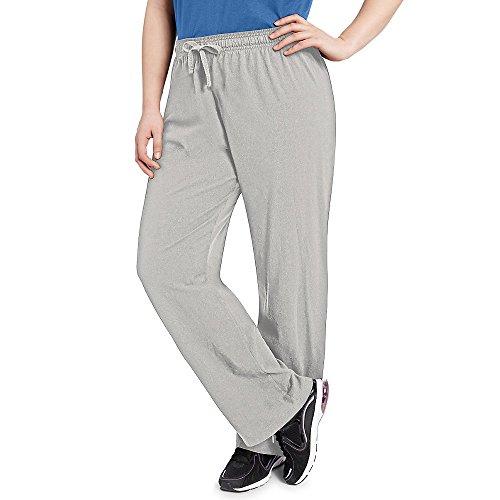 Champion Womens Plus Jersey Pants Oxford Grey