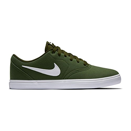 Nike Men's SB Check Solarsoft Canvas Skateboarding Shoes (11.5 D(M) US, Legion Green/White)