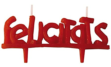 Velas cumpleaños Vela fantasía FELICIDADES-FELICITATS-Velas Figura Infantil (FELICITATS)