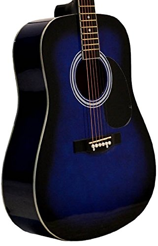 "41"" Inch Full Size Blue Handcrafted Steel String Dreadnought"