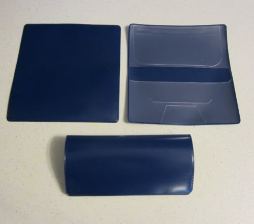 Royal Blue Checkbook Cover With Duplicate Flap Check Book Covers New