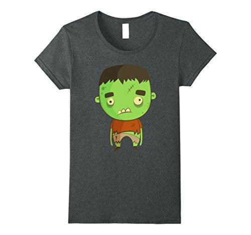 Womens Halloween Party Shirt - Caricature Frankenstein XL Dark (Halloween Caricatures)