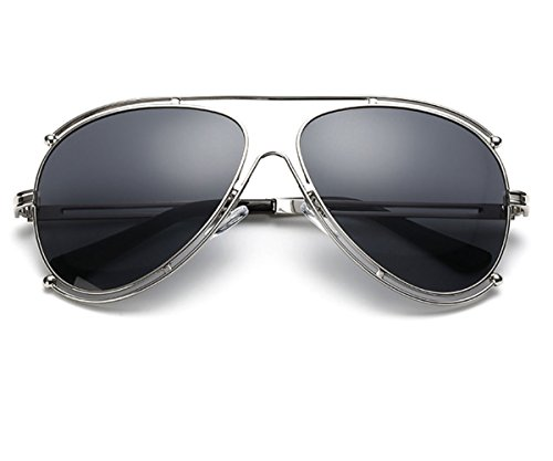 Heartisan Double Ring Metal Frame Oversize Oval Fashion Unisex Sunglasses - Miu Miu Lentes