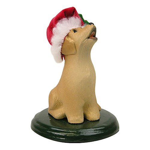 The Carolers Labrador Dog Figurine Color Yellow by The Carolers