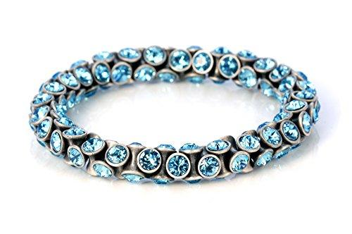 Bico Fountain Light Flexible Bracelet w Swarovski Crystals (CA34 Light Blue ()