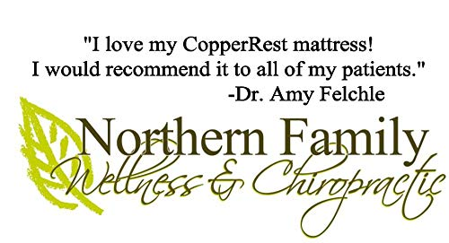 "Luxury Plush King Memory Foam Mattress, CopperRest Sleep 13"" Copper/Gel Infused Latex Bed in a Box, 15 Year Warranty and 60 Night"