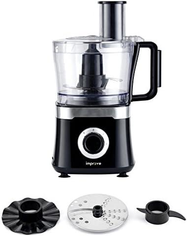 Improve improb001wfp Robot de cocina Multichef Color rallador, impasta, emulsiona, 800 W, jarra 1,5L – Negro/Silver: Amazon.es: Hogar