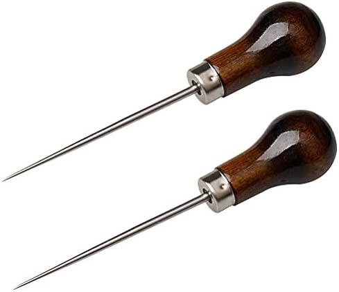 LoveinDIY 14x Leather Craft Cloth Awl Tool Pin Sewing Punch Hole Maker Copper Handle