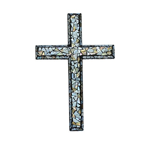 Mother of Pearl Inlaid Wall Cross Medium 12 in – Basic Design